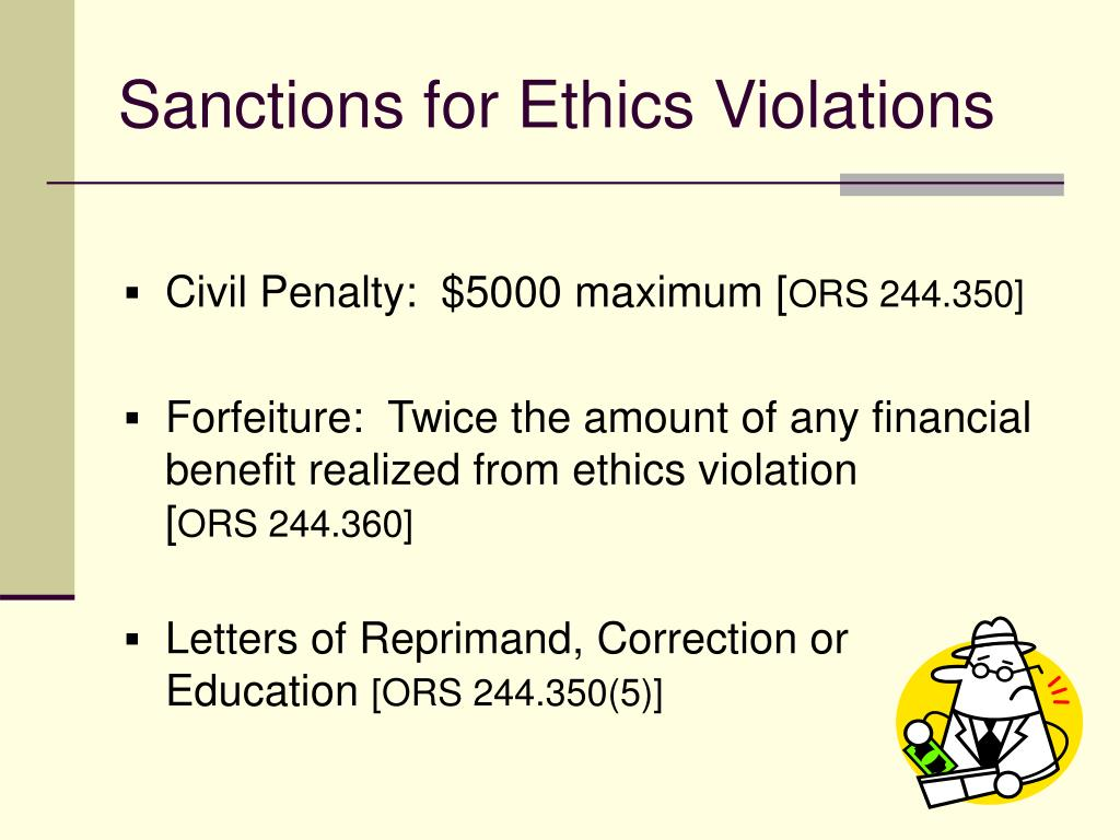 Sanctions for Ethics Violations