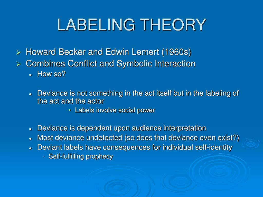 This is an image of Lively Labeling Theory Focuses on