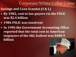 corporate white collar crime