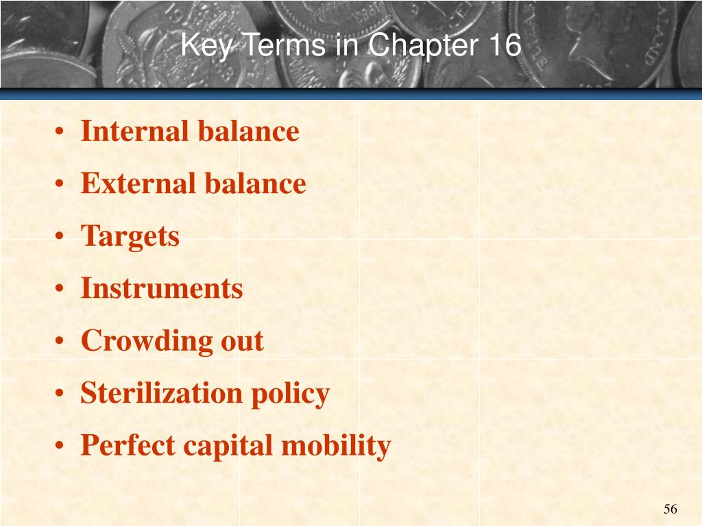 Key Terms in Chapter 16