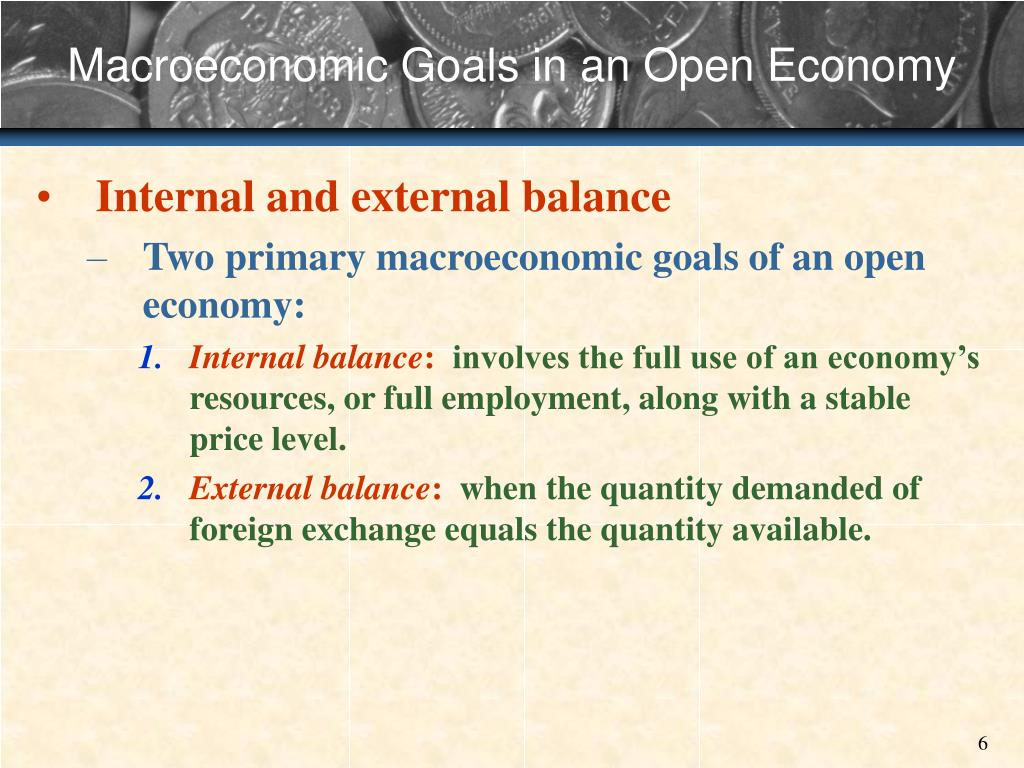 Macroeconomic Goals in an Open Economy