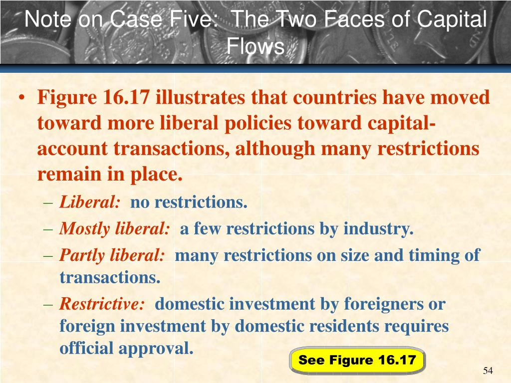 Note on Case Five:  The Two Faces of Capital Flows