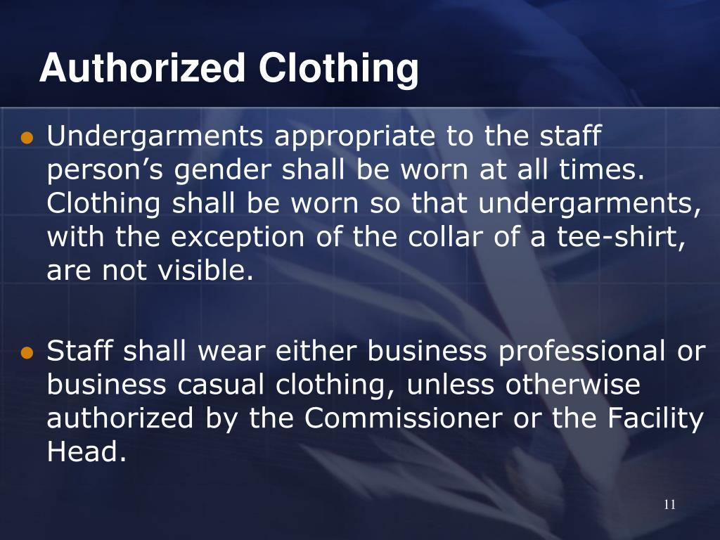 Authorized Clothing