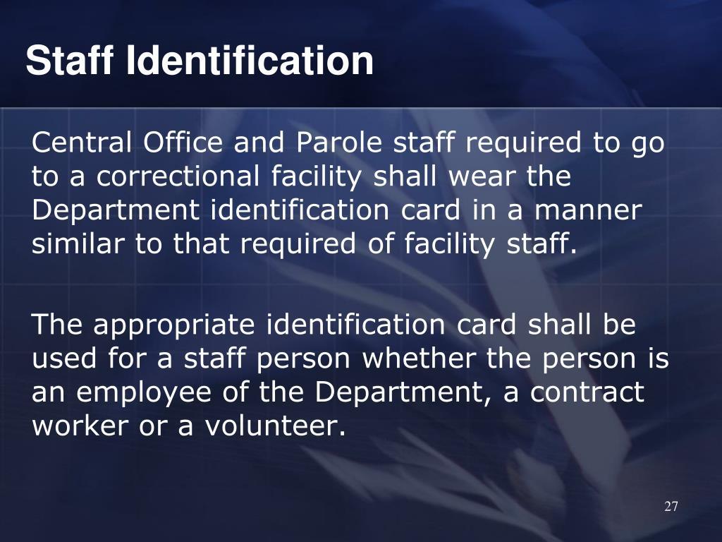 Staff Identification