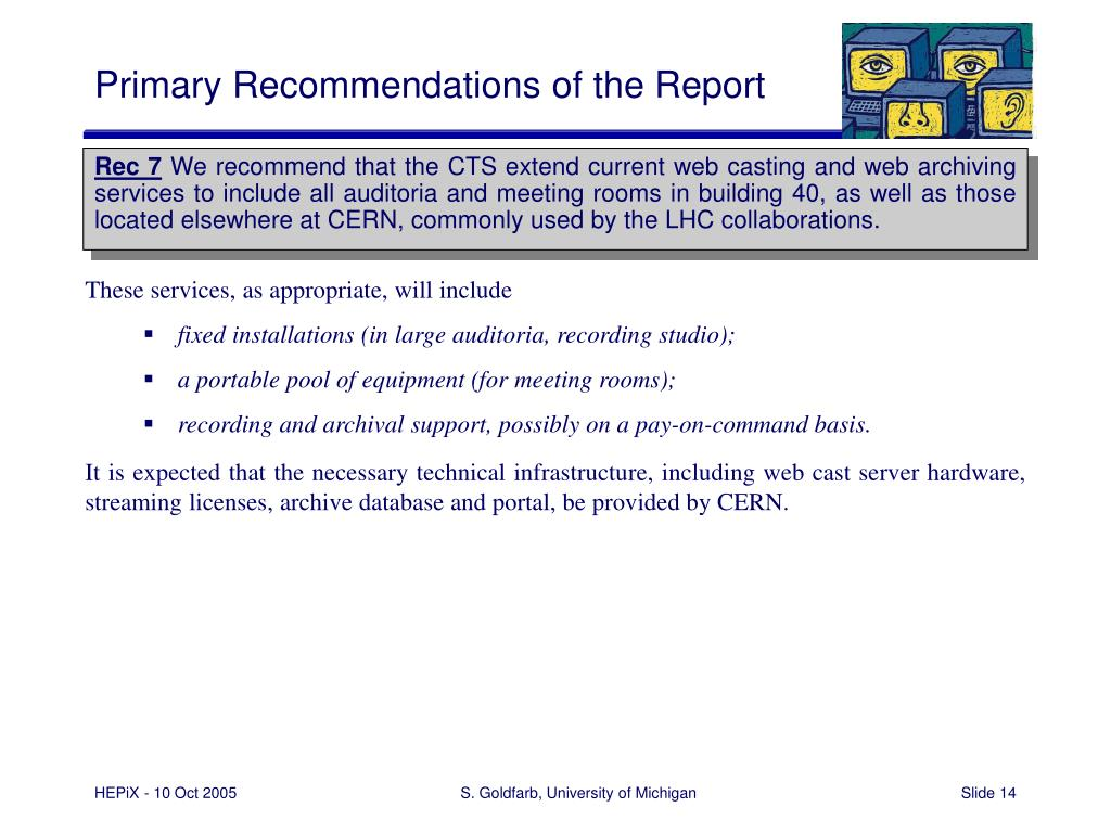 Primary Recommendations of the Report