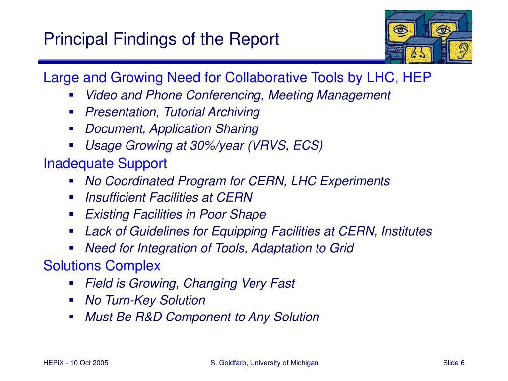 Principal Findings of the Report