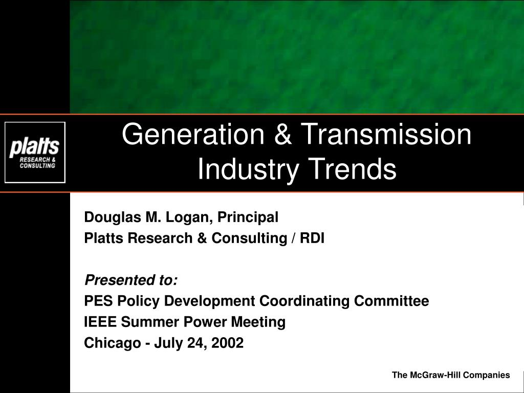 Generation & Transmission Industry Trends