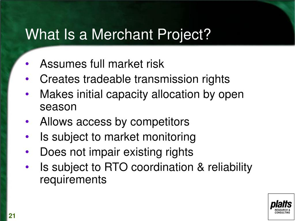What Is a Merchant Project?
