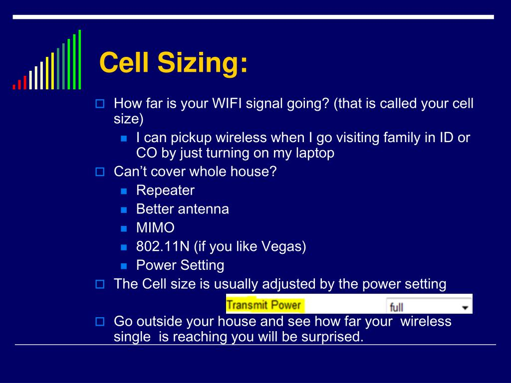 Cell Sizing: