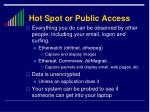 hot spot or public access