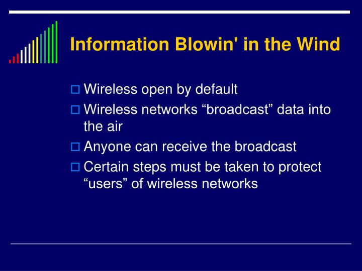 Information blowin in the wind