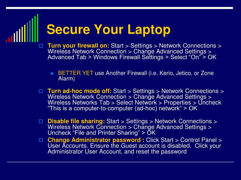 Secure Your Laptop