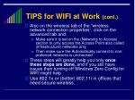 tips for wifi at work cont