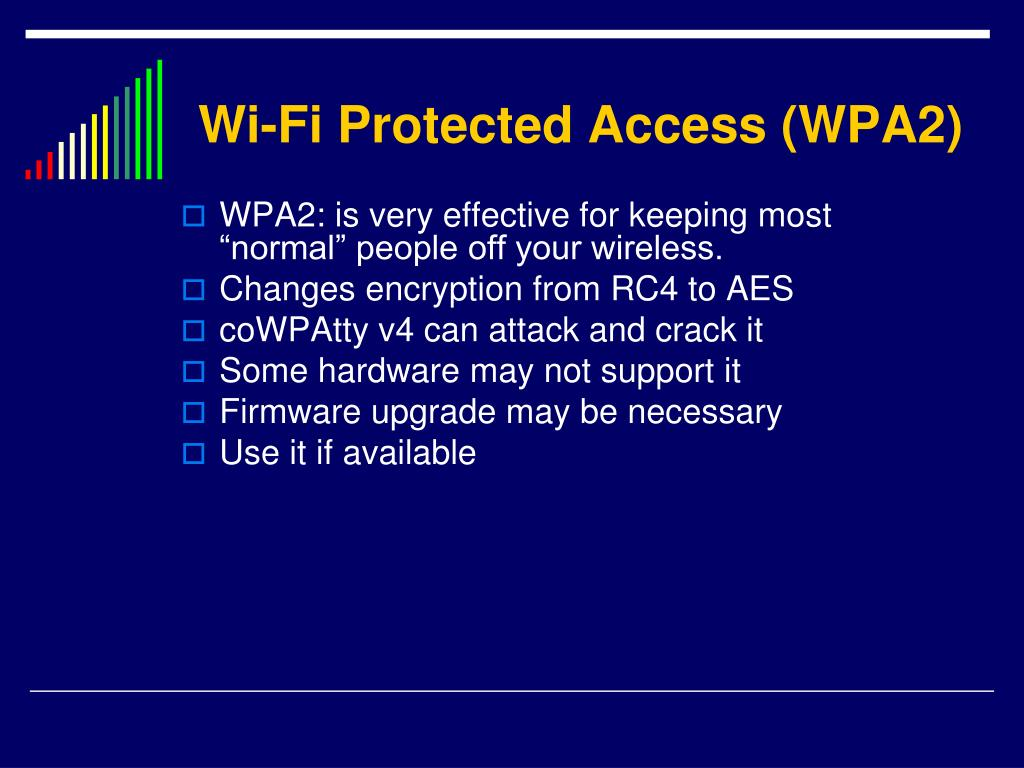 Wi-Fi Protected Access (WPA2)