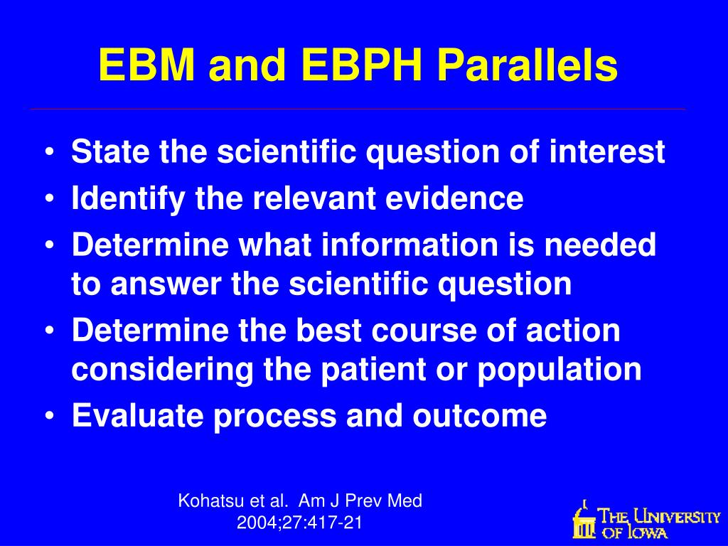 EBM and EBPH Parallels