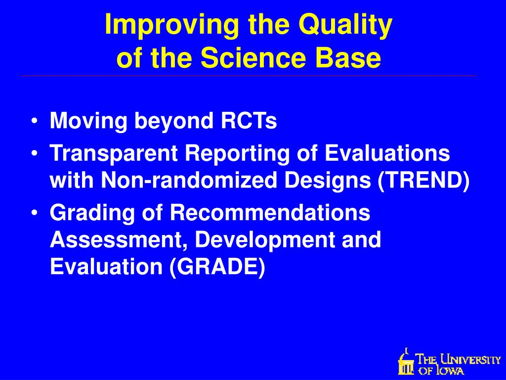 Moving beyond RCTs
