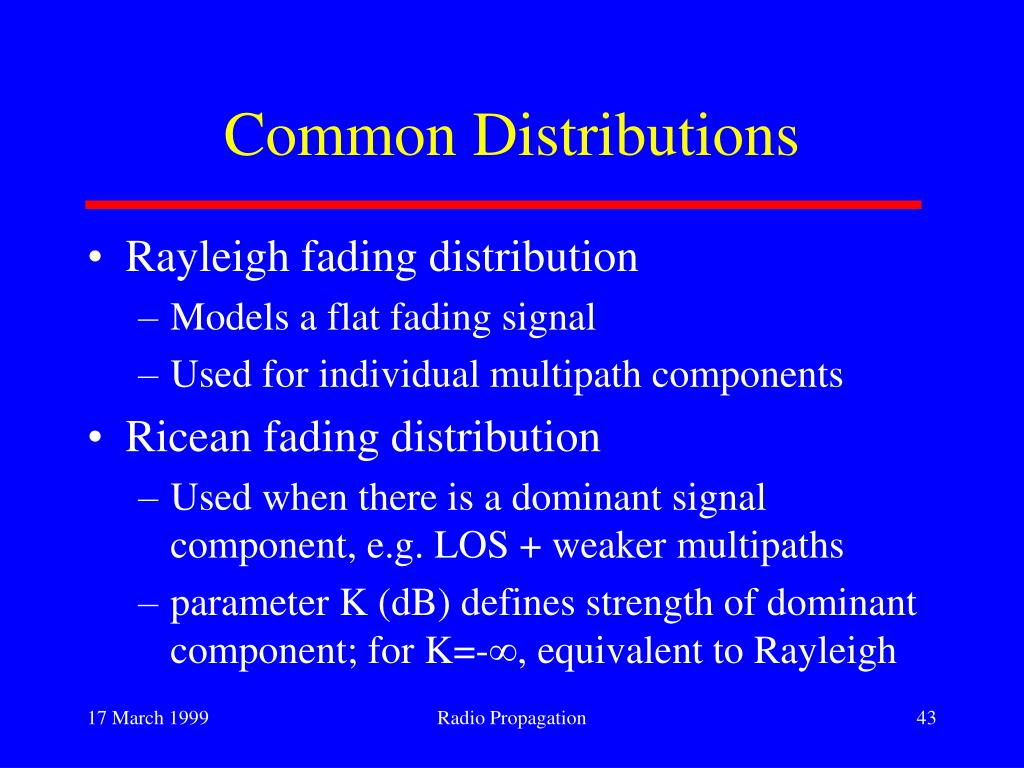 Common Distributions