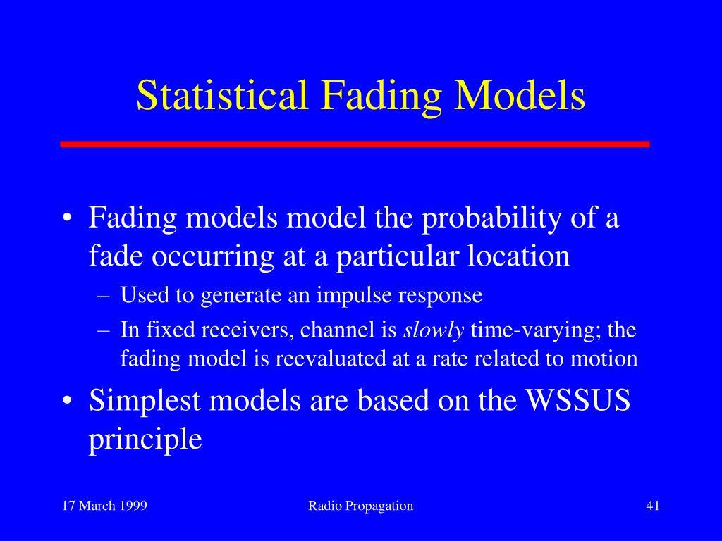 Statistical Fading Models
