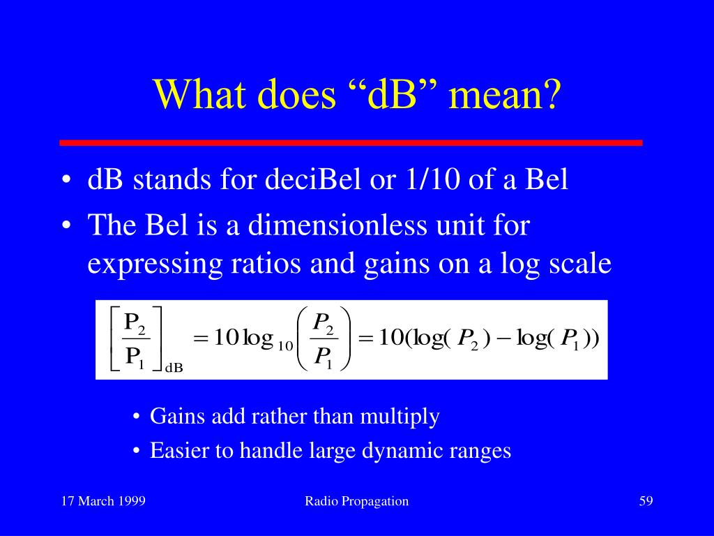 "What does ""dB"" mean?"