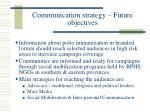 communication strategy future objectives