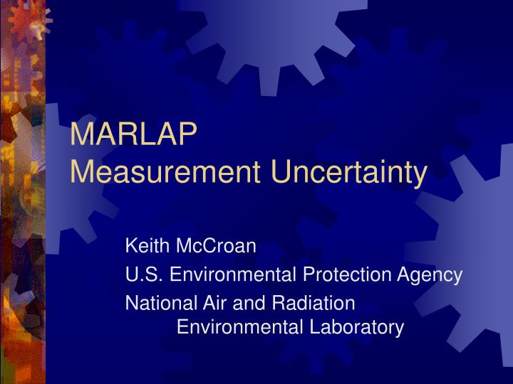Marlap measurement uncertainty