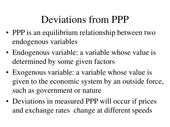 Deviations from ppp2