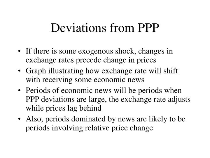 Deviations from ppp3