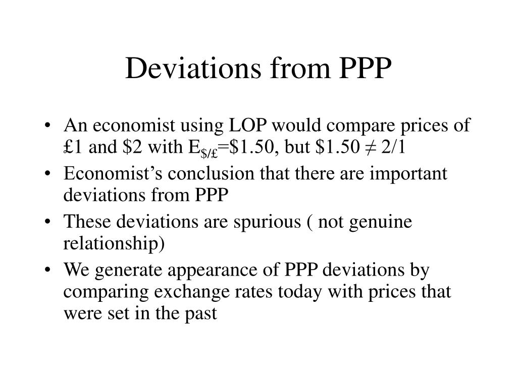 Deviations from PPP