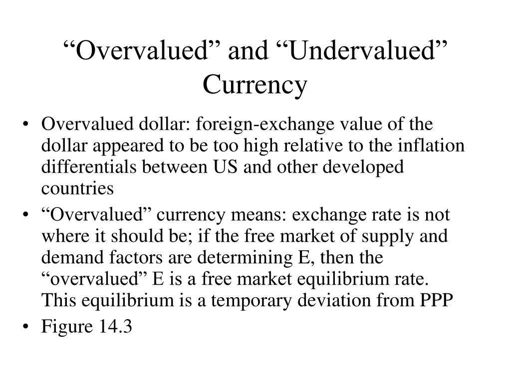 """Overvalued"" and ""Undervalued"" Currency"