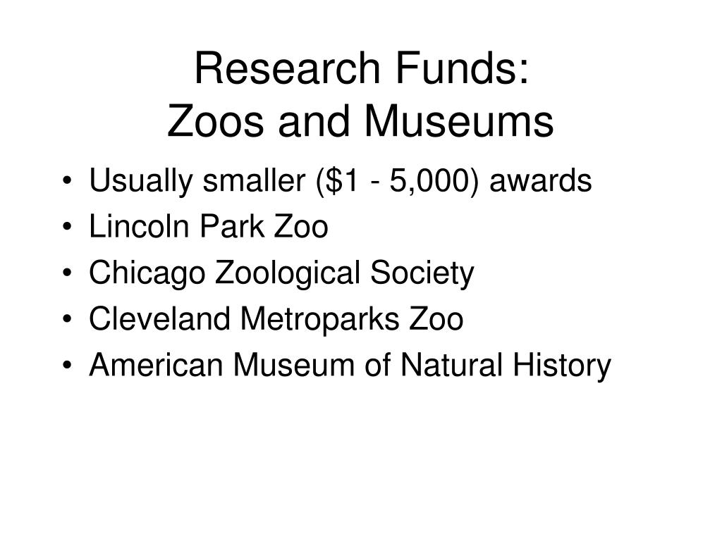 Research Funds: