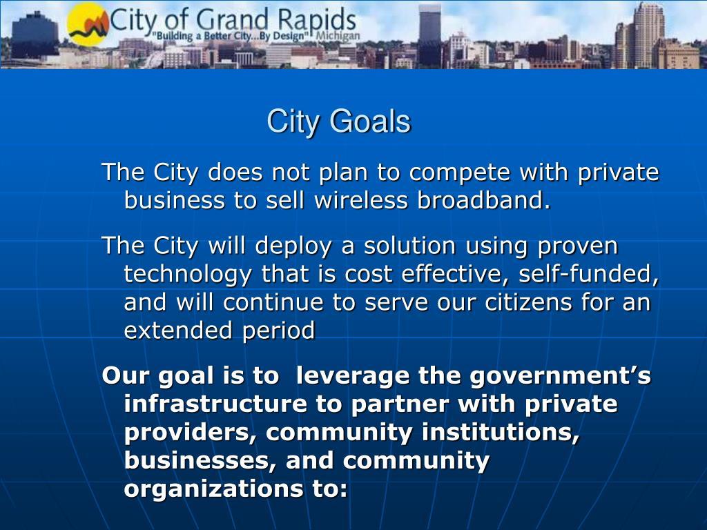 City Goals