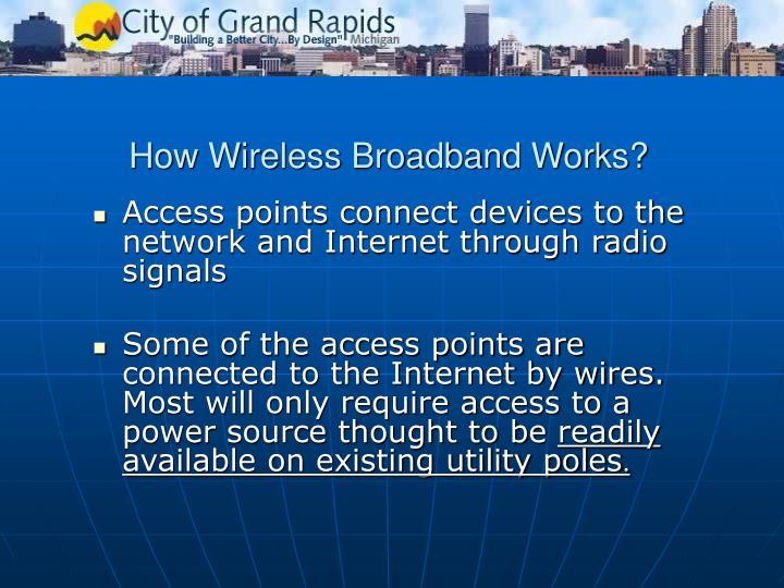 How wireless broadband works
