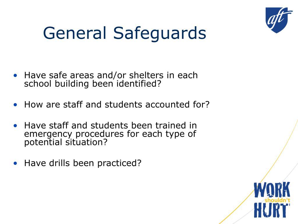 General Safeguards