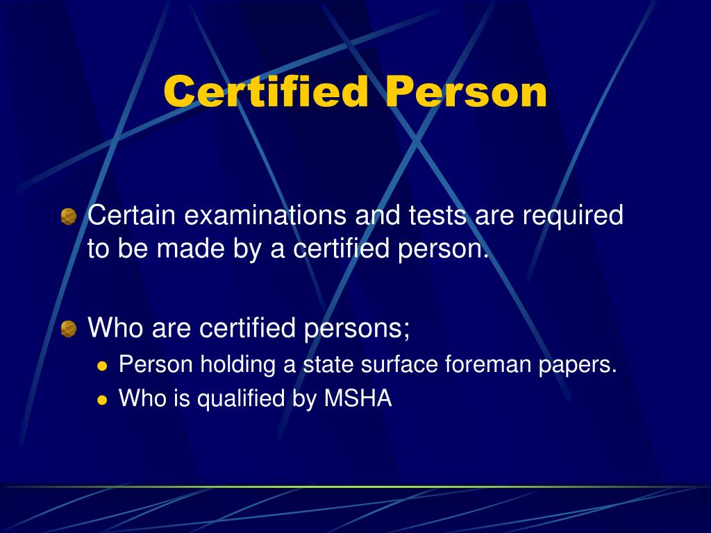 Certified Person