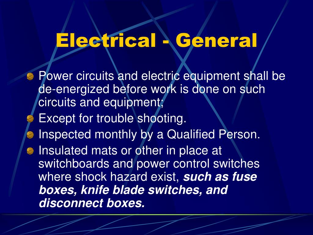 Electrical - General