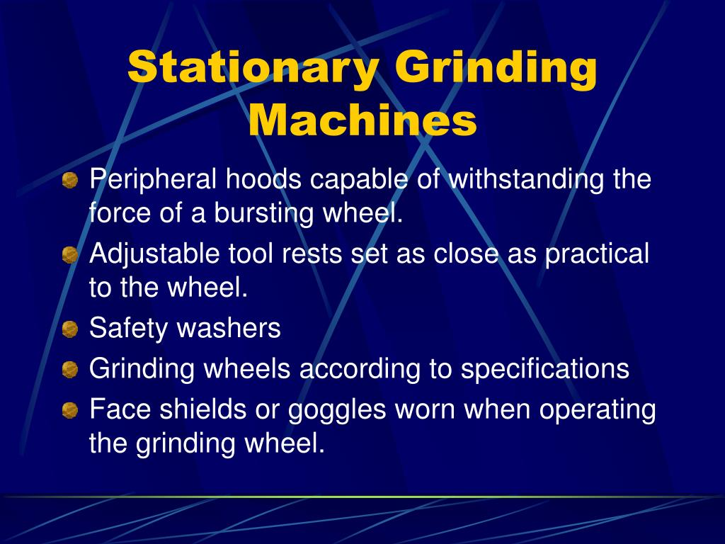 Stationary Grinding Machines