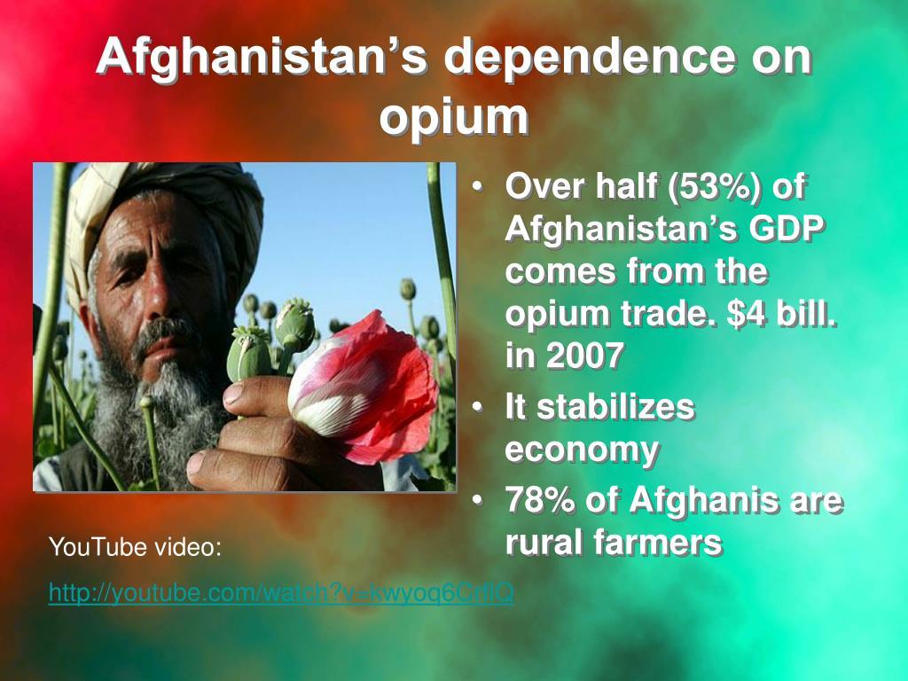 Afghanistan's dependence on opium