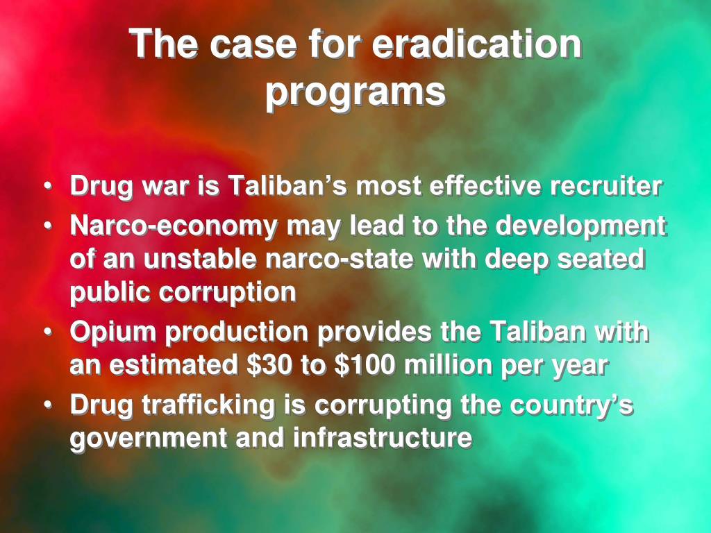The case for eradication programs