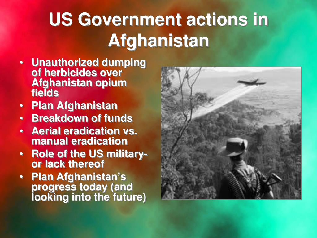 US Government actions in Afghanistan