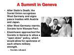 a summit in geneva