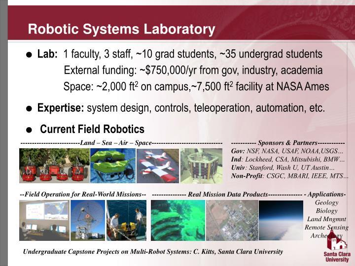 Robotic systems laboratory