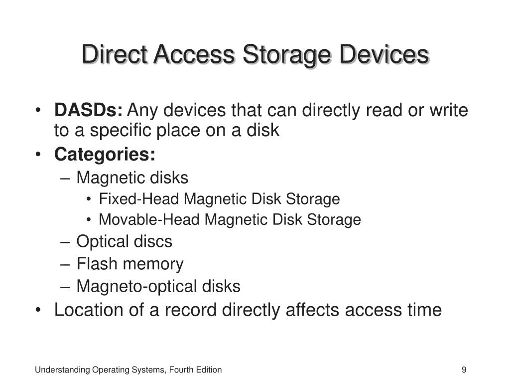 Direct Access Storage Devices