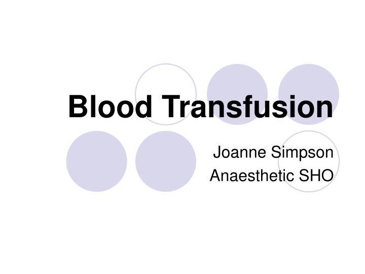 blood transfusion n.