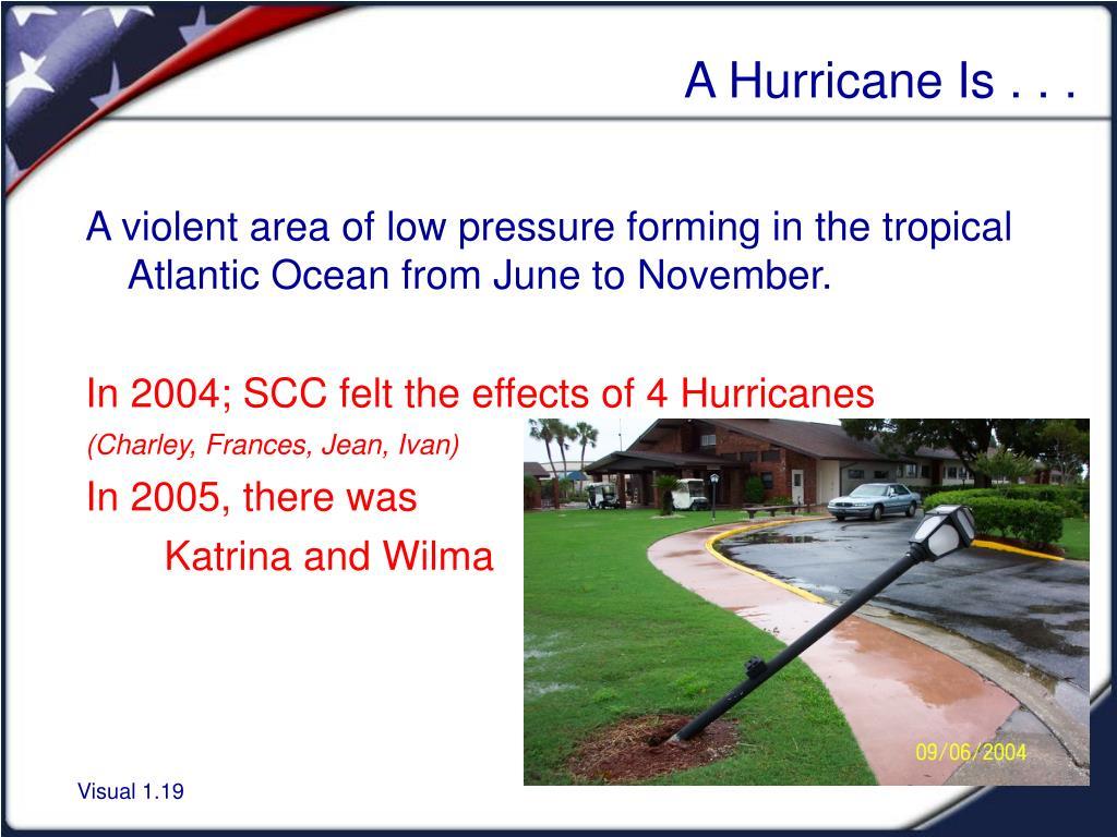 A Hurricane Is . . .