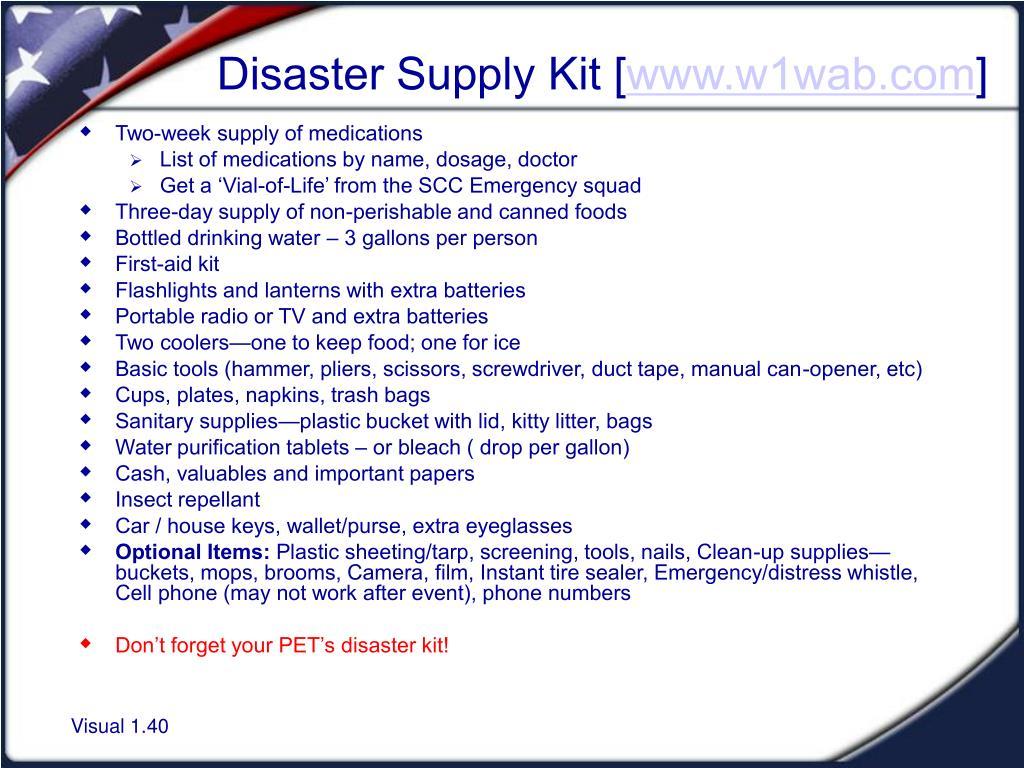 Disaster Supply Kit [
