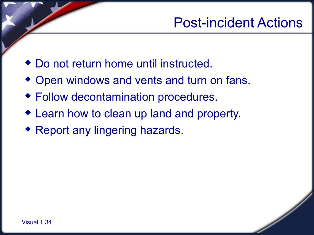 Post-incident Actions