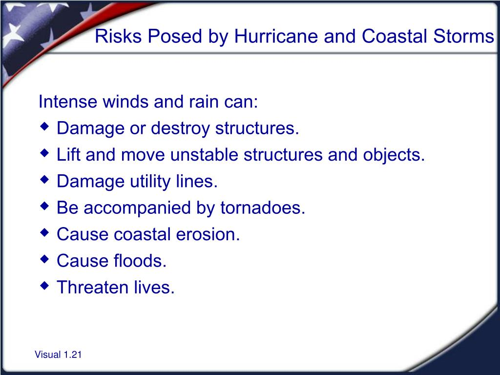 Risks Posed by Hurricane and Coastal Storms