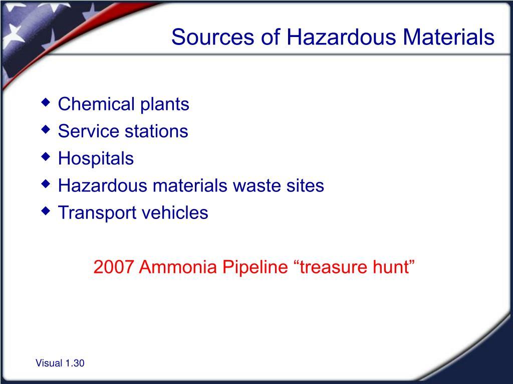 Sources of Hazardous Materials