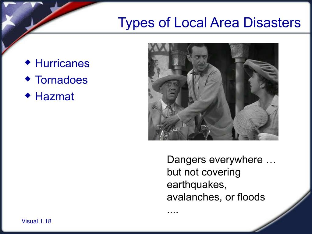 Types of Local Area Disasters