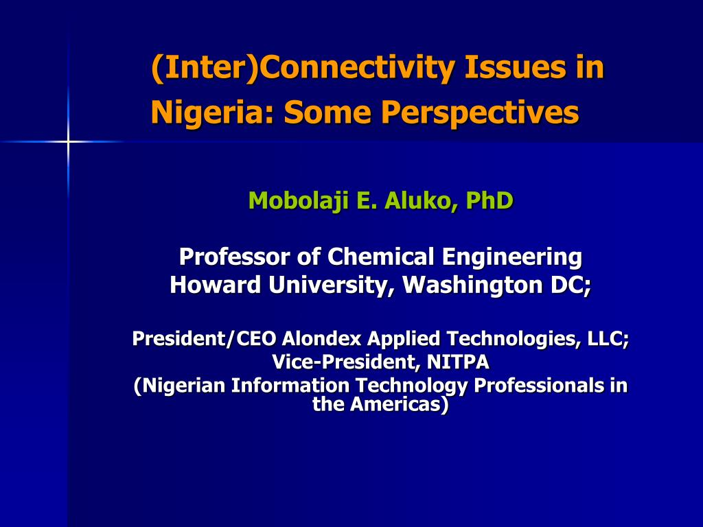 inter connectivity issues in nigeria some perspectives l.